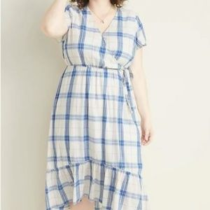 Old Navy Faux-Wrap Plus-Size Midi